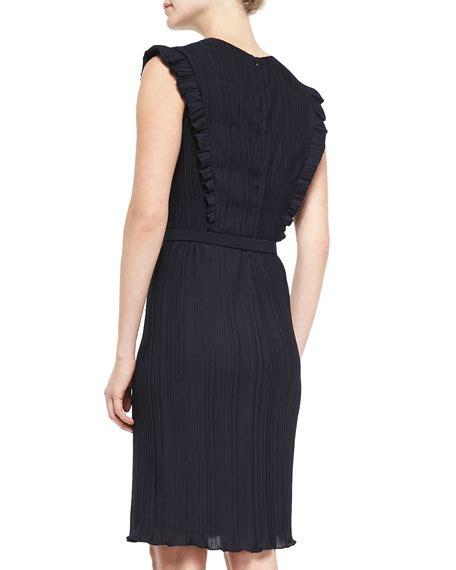 Ruffle Trim Sleeveless Dress escada sleeveless ruffle trim bodice dress