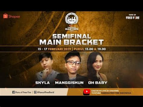 fire shopee indonesia masters main bracket