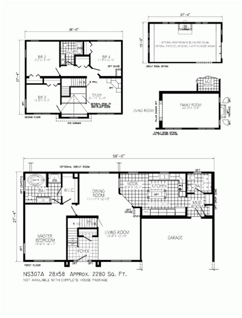 story and a half floor plans ns307a carlisle by mannorwood homes two story floorplan