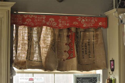 coffee sack curtains burlap coffee sack curtains footboard valance