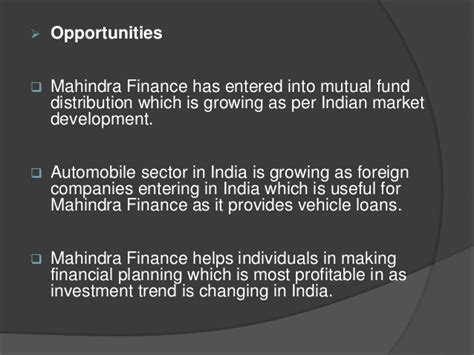 mahindra fainance mahindra finance swot analysis