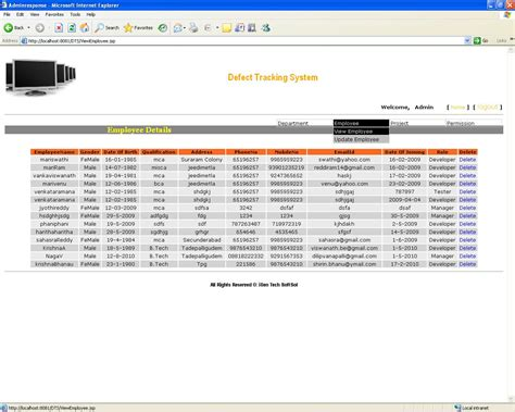 tracking system bug tracking system java project code with c