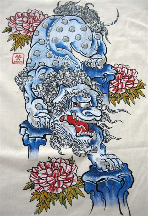 shisa tattoo okinawa japanese shisa ronin t shirt s bnwt