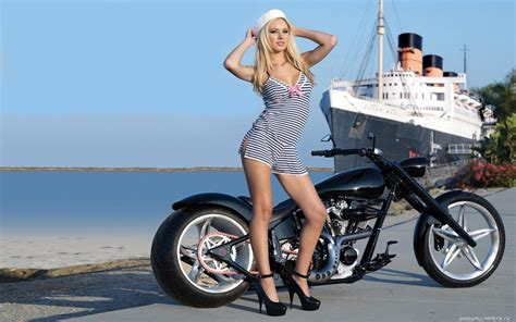 Frauen Motorrad Modelle by Hintergrundbilder Schiff Frau Modell Blond Meer