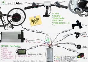 27 5 inch 48v 1000w rear hub motor electric bike conversion kit 650b leaf