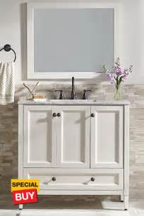 amazing Home Depot Mirrors For Bathroom #1: 36-in-Claxby-Cream-Vanity-12g.jpg