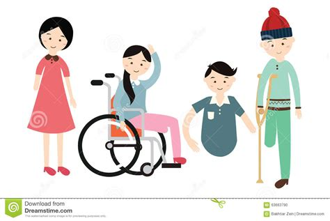 world disability day disabled vector flat