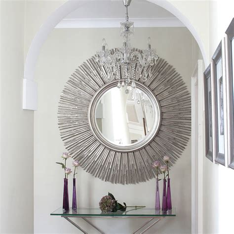 decor mirror inca contemporary sun mirror by decorative mirrors notonthehighstreet