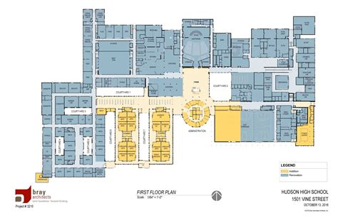 school cafeteria floor plan high school project hudson schools
