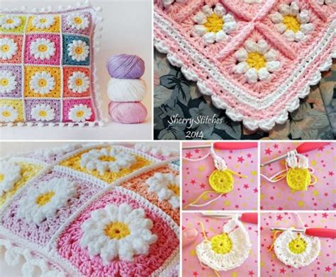 Monster Truck Rug Crochet Daisy Granny Square Blanket Free Pattern The Whoot