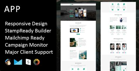 App Multipurpose Responsive Email Template Stready Builder By Fourdinos App Builder Template
