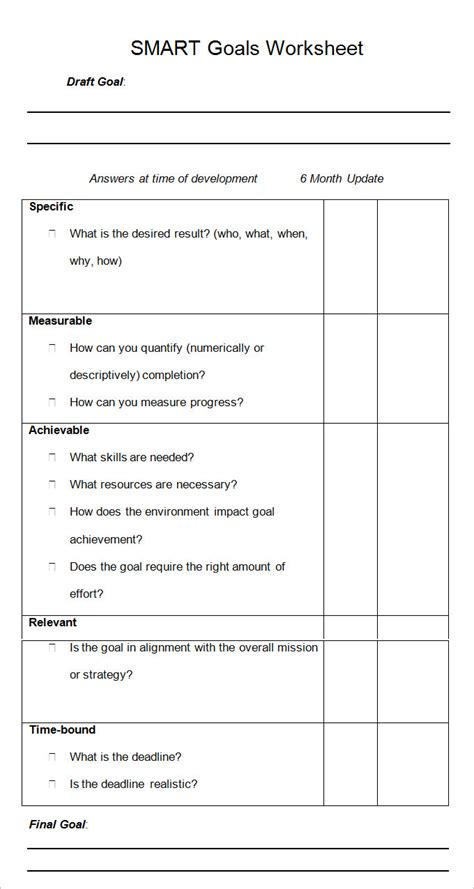 setting smart goals template smart goal template 4 free pdf word documents