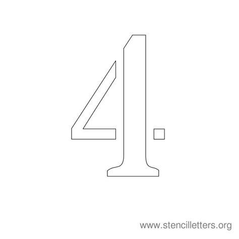 printable number stencils 4 inch number stencils 1 10 stencil letters org