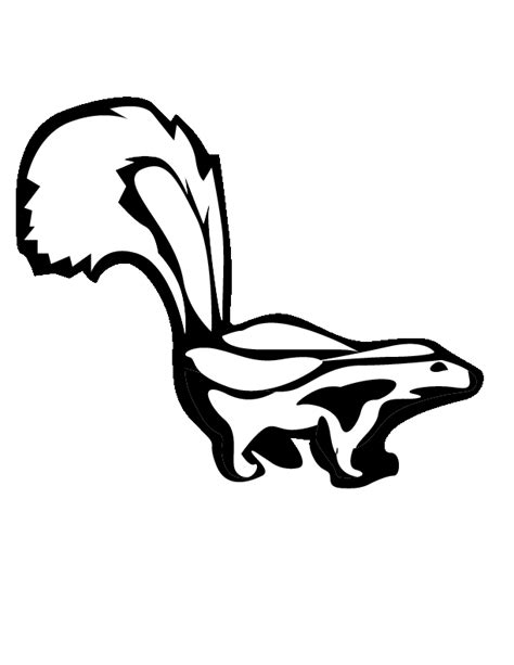 Skunk Coloring Pages Coloring Home Skunk Coloring Pages