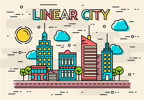 linear layout web design free linear city vector download free vector art stock