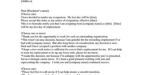 Resignation Letter Doc South Africa resignation letter sle doc resume and letter