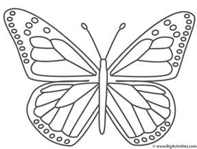 monarch color monarch butterfly coloring page insects