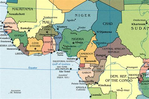 map of west africa map of ivory coast africa