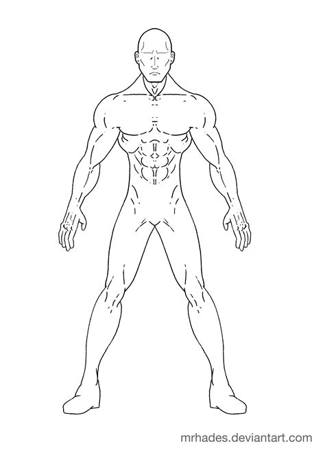 superhero body outline sketch templates