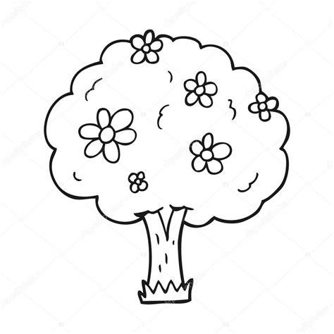 fruta blanco y negro fotos de archivo imagen 18950683 225 rbol de dibujos animados blanco y negro con flores