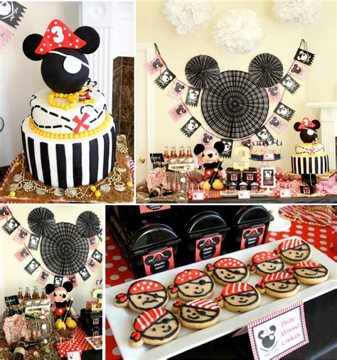 birthday themes mickey mouse mickey mouse pirate themed birthday party via karas party