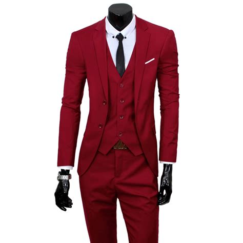 set of 3 fancy coat classic three tuxedo mens wedding groom dress slim fit working suits sets ebay