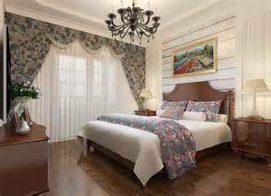 chinese bedroom curtains and flower arrangement interior
