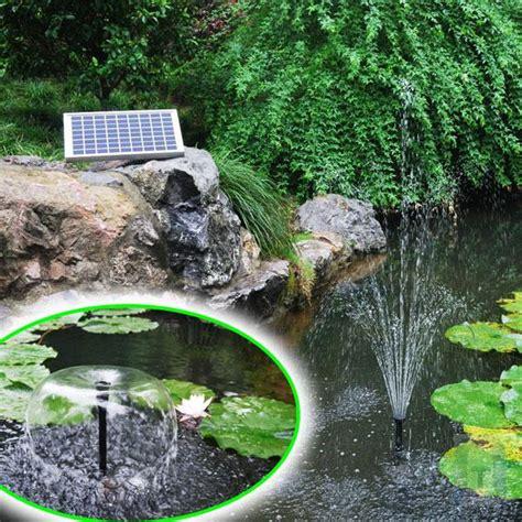 springbrunnen teich 10 watt solar teichpumpe springbrunnen teich pumpe
