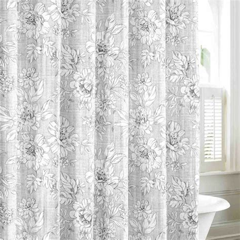 laura ashley red curtains laura ashley kingsley gray cotton shower curtain