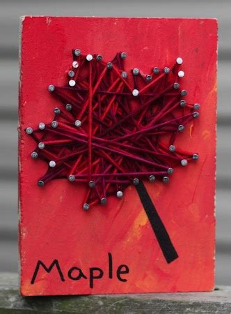 autumn string art things to make and do, crafts and