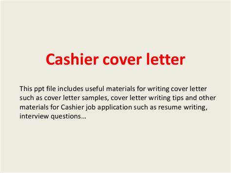 cashier cover letter sles cashier cover letter