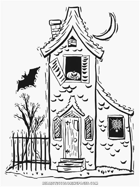 halloween house coloring page halloween haunted house coloring pages realistic