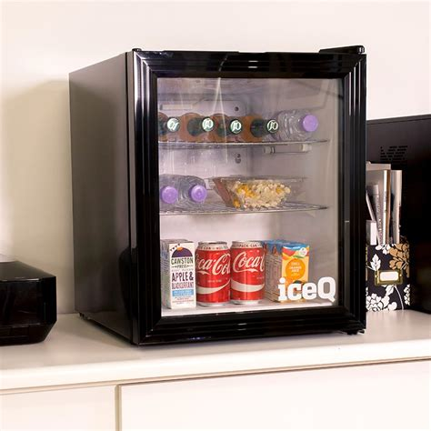 glass door drinks fridge iceq 49 litre drinks glass door fridge black