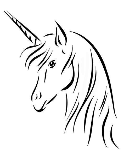 printable unicorn drawing drawings of unicorns az coloring pages