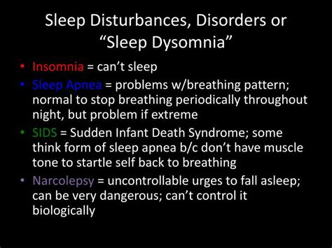 sleep pattern disturbance meaning ppt effects of sleep deprivation powerpoint presentation