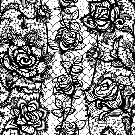 lace pattern wall abstract seamless lace pattern with flowers roses stock