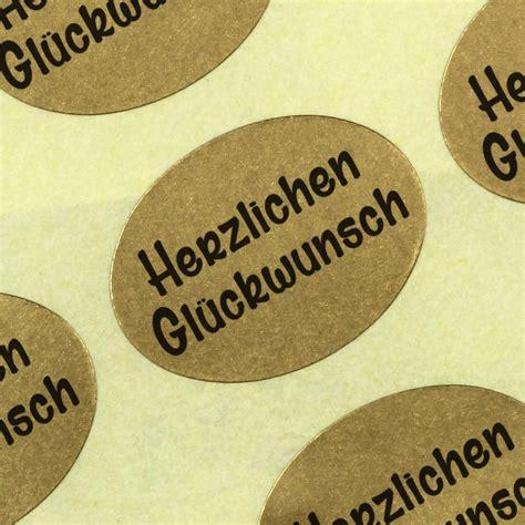 Etiketten Rolle Gold by Aufkleber Herzlichen Gl 252 Ckwunsch Gold Etiketten Haftpapier