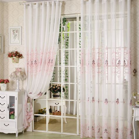 sheer bedroom curtains vintage sheer curtains for romantic bedroom design