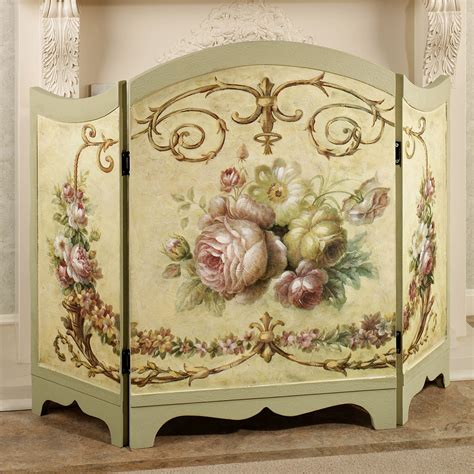 fancy fireplace screens decorative fireplace screen