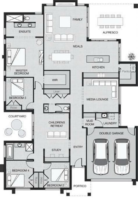 Master Retreat Floor Plans Best 25 Architectural House Plans Ideas On Pinterest