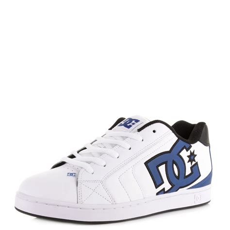 white and blue shoes for mens dc net white blue black classic style leather skate