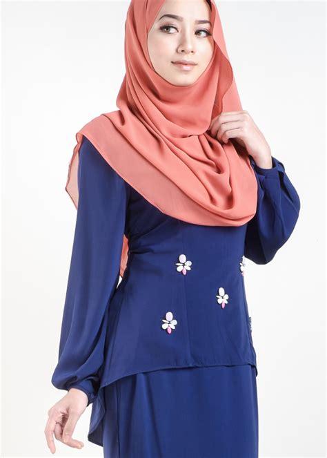 Baju Gamis Warna Baby Blue baju kurung moden asyura royal blue lovelysuri