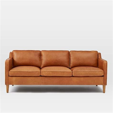 Hamilton Leather Sofa Tan West Elm Hamilton Leather Sofa
