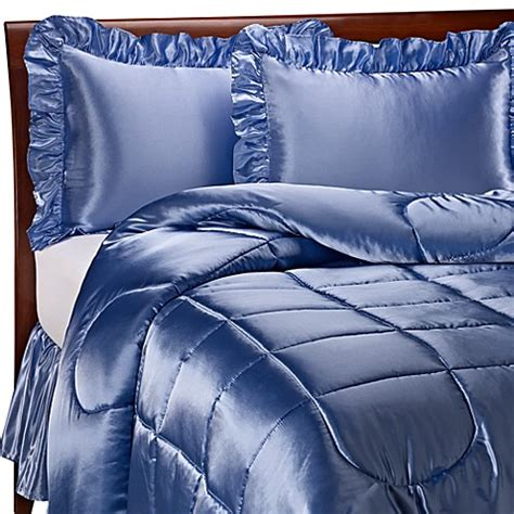 blue satin comforter charmeuse french blue satin comforter set bed bath beyond