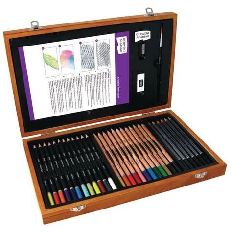 arts and craft sets for derwent academy pencils wooden box set hobbycraft
