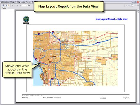data view vs layout view arcgis arcgis desktop help 9 3 running a map layout report