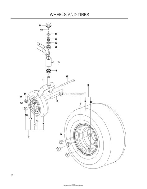 husqvarna rz    parts diagram  wheels tires