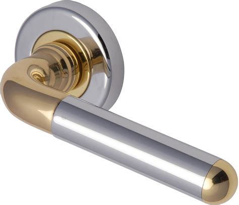 Door Handle by Kendo Door Handle Polished Chrome And Brass