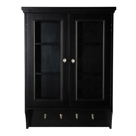 Black Bathroom Wall Cabinets by Black Bathroom Wall Cabinet With Glass Doors Bar Cabinet