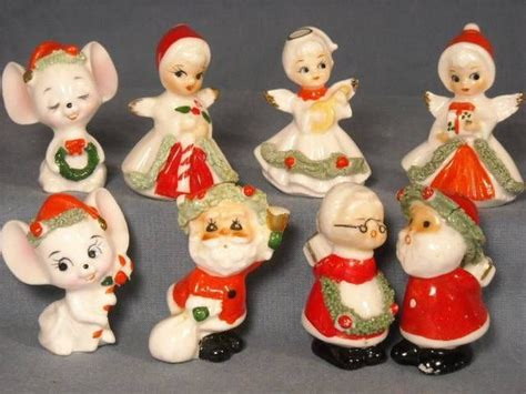 miniaturebone china xmas figurines details about 8 vtg napco miniature figurines bone china mice santa claus